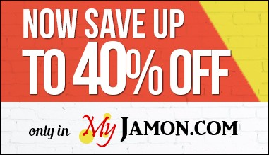 Now save up to 40% off only in My Jamon